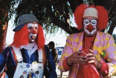 Ubi the Clown and Pockets the Clown at Art & Artichokes, Oak Harbor, WA
