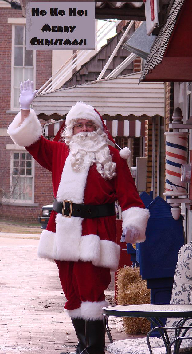 John Hogan as Santa in Pittsboro, NC