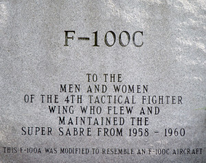 F-100C didication plaque