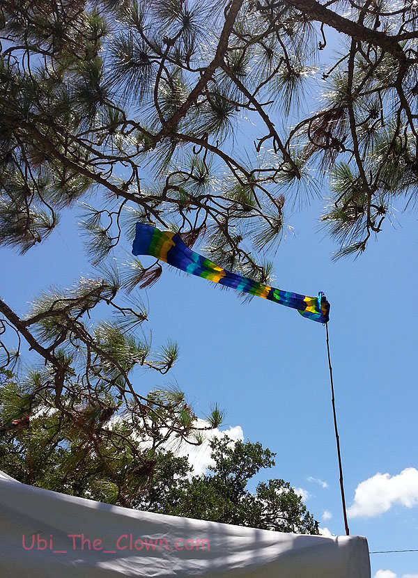 A stiff breeze kept the children's area cool and the pennants flying.