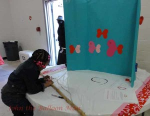 The fishing booth at the Valentine's Day Extravaganza for Special Needs Children of Wayne County, NC.