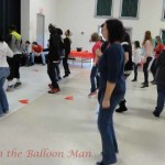 Electric Slide/Line dancing at the inaugural Valentine's Day Extravaganza for Special Needs Children of Wayne County, NC.