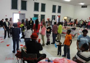 Dancing at the Valentine's Day Extravaganza for Special Needs Children of Wayne County, NC.